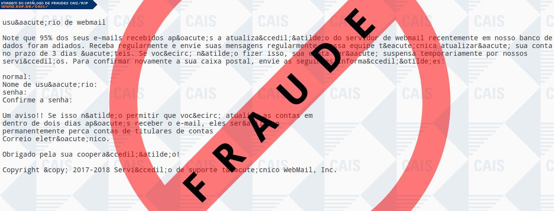 d637ba0cc6e Catálogo de fraudes