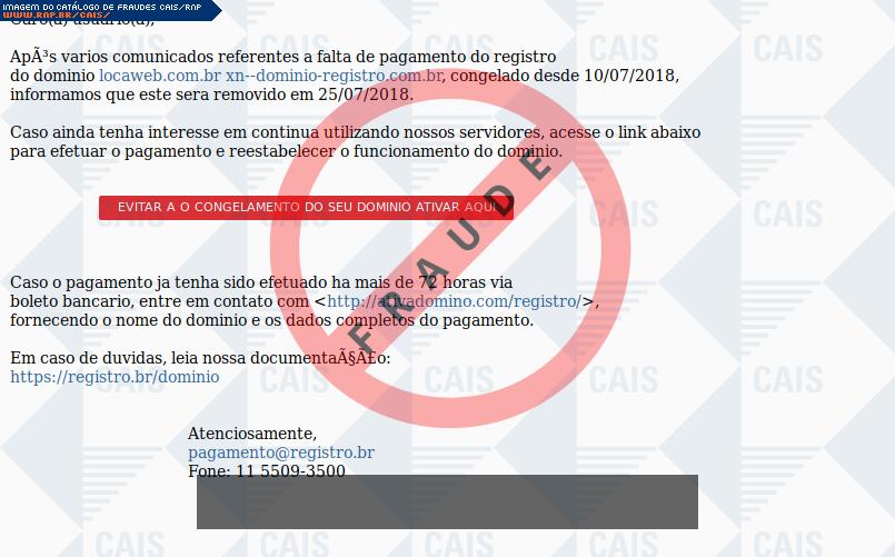 defdc9776d Catálogo de fraudes